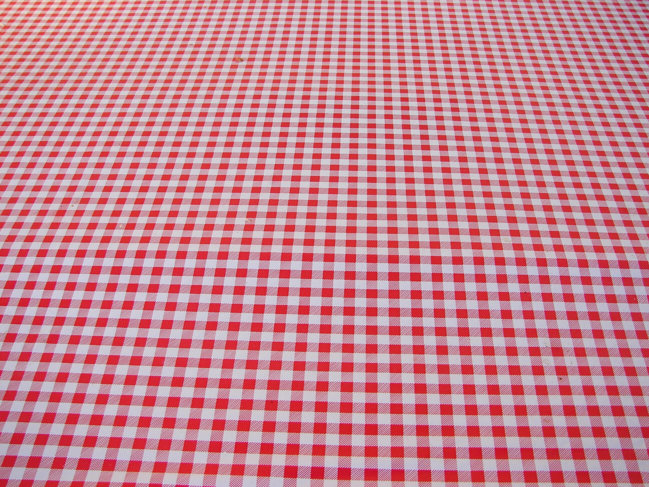 Red White Checked Tablecloth By FantasyStock Red White Checked Tablecloth  By FantasyStock