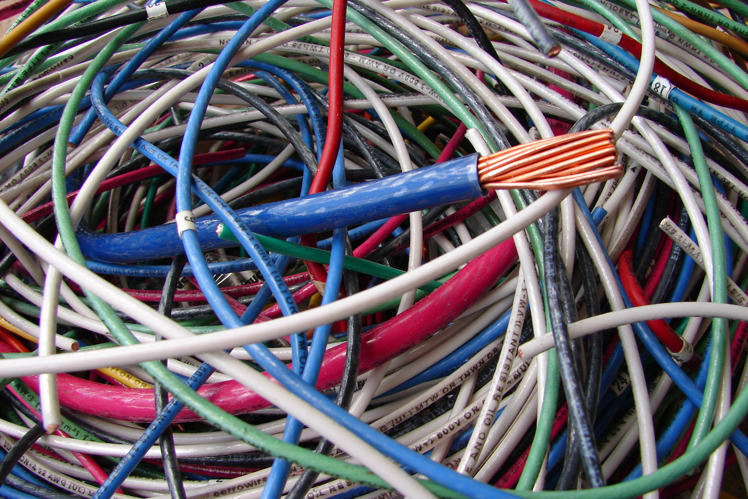 Colorful Electrical Wires 1 by FantasyStock on DeviantArt