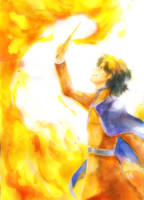 Magical Diary : Fire Dancing by luckynesu