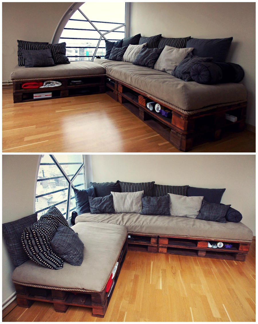 Pallet Sofa By Reedaoma On DeviantArt