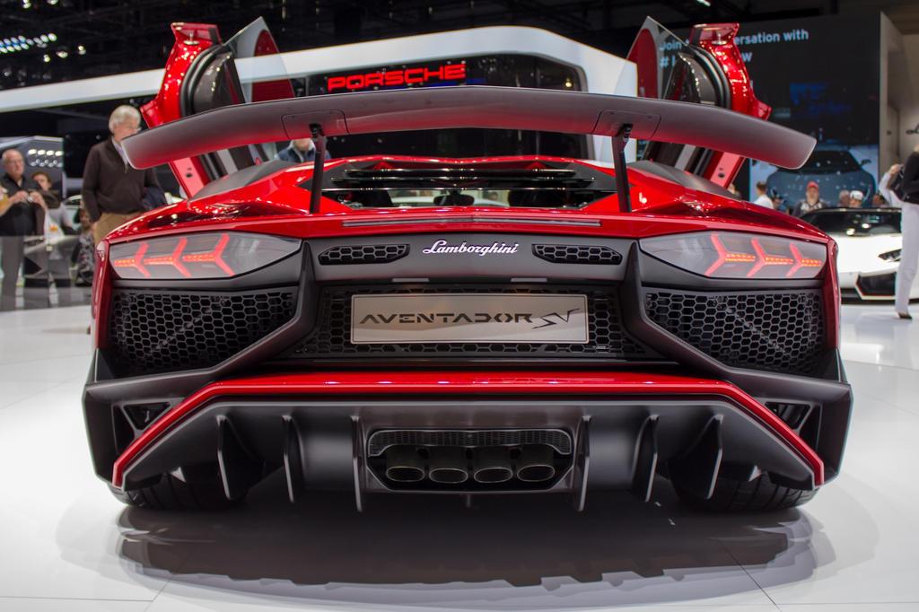 Geneva 2015 Lamborghini Aventador Sv Rear By