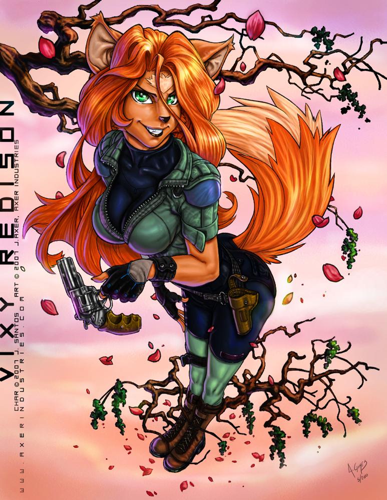 What a Fox by JayAxer colored by kusanagisensei