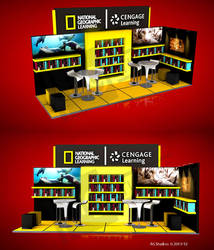 NAT GEO  MOBILE LIBRARY STAND 6X2 MTS