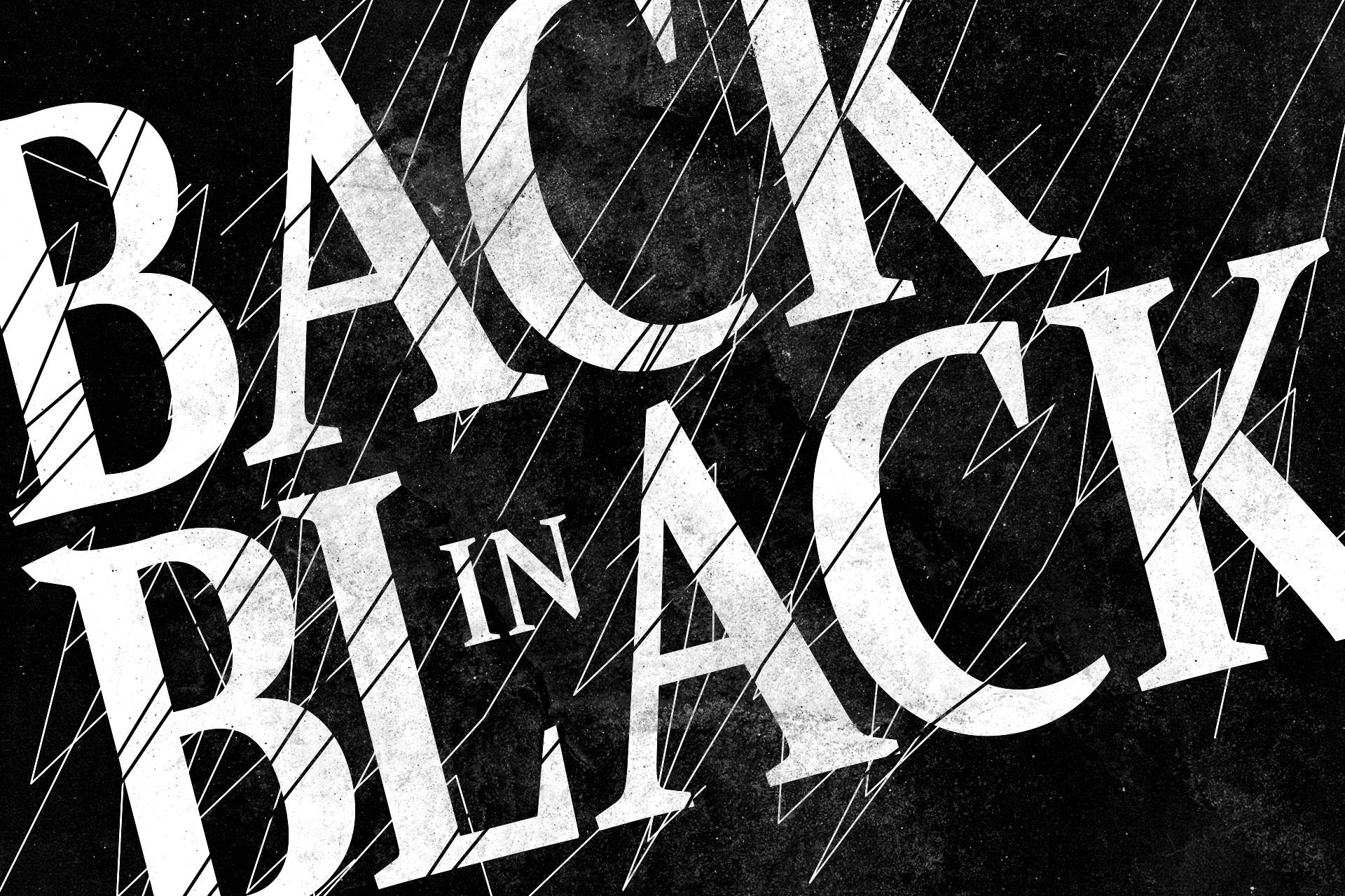 Back-in-black-typographic-rock-n-roll by eyesofthenorth