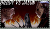 Freddy vs. Jason stamp by Cheetana