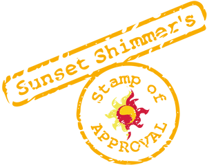 Sunset Shimmer Stamp Of Approval