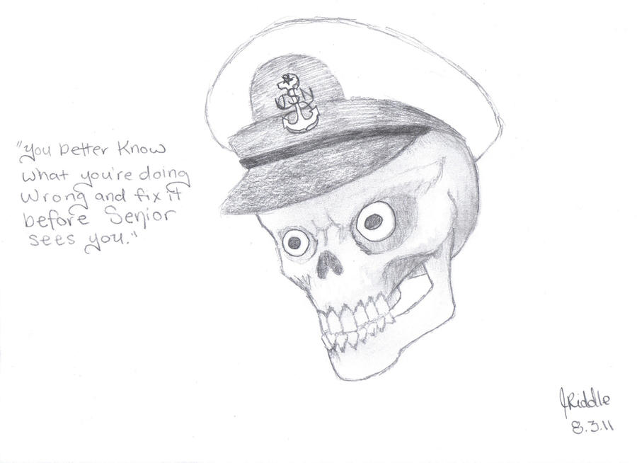 senior chief skull 2 by hybridpassions on deviantart