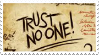 Trust No One Stamp by pandan009