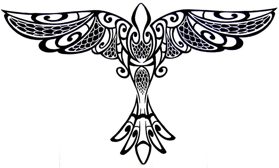 Tribal Bird Tattoo by HawaiianDragon on DeviantArt