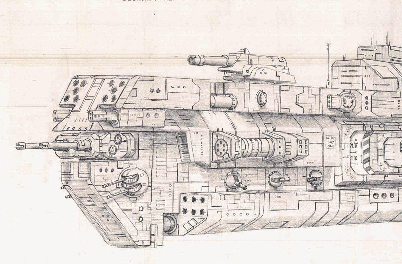 Telserek - Alpha Class Cruiser by startitan
