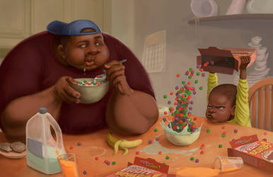 I Like Cereal by KendallHaleArt