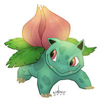 #002 Ivysaur by KendallHaleArt