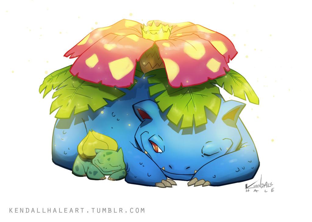 Renders Pokémon & Vocaloid _003_venusaur_by_starvingstudents-d680p19