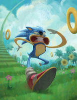 Sonic SPEED by KendallHaleArt
