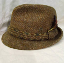 antique mens trilby fedora hat by LDOriginals