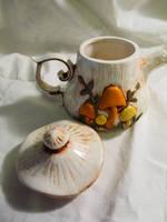 Arnelle's pottery mushroom teapot, vintage by LDOriginals