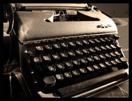 vintage old school Olympia type writer by LDOriginals