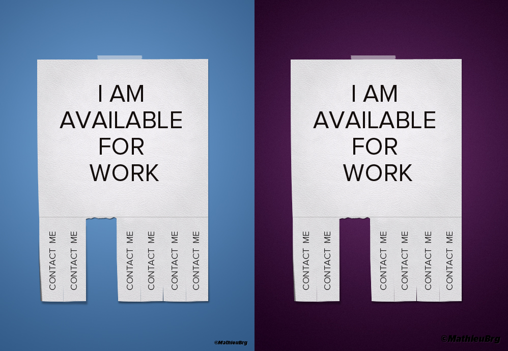 I am available for work by MathieuBerenguer