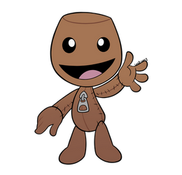 Happy little sackperson