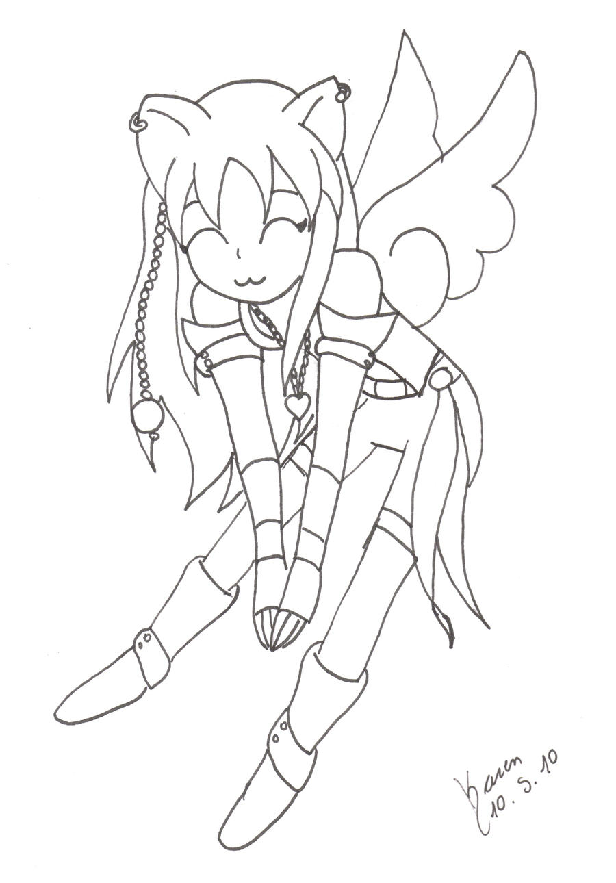 Neko Lineart : Neko girl lineart by sshitsu on deviantart