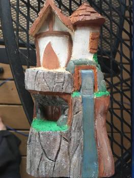 Fairy house work in progress