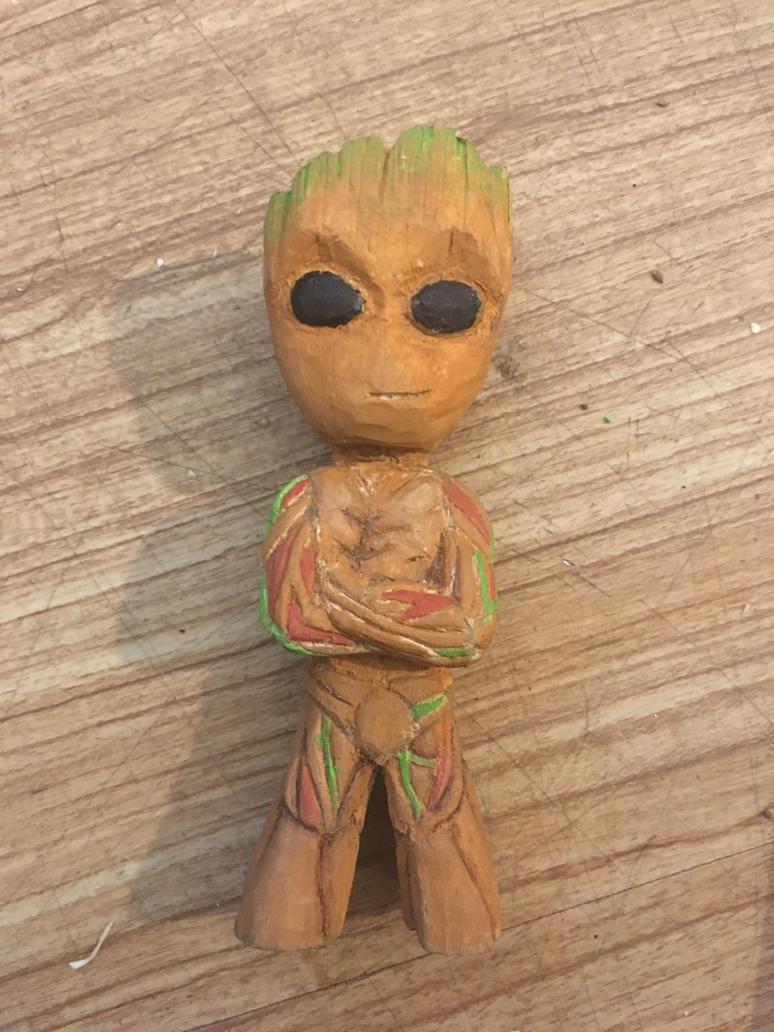 Baby Groot by CarvingConsugar