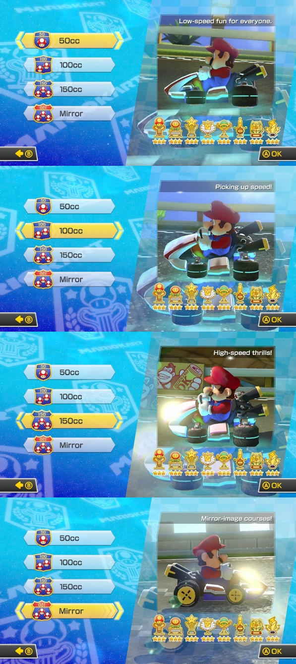 3 Stars in All Engine Classes. Mario Kart 8 by BansheeTK