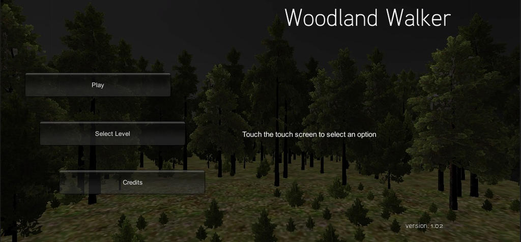 Woodland Walker: Title Screen by BansheeTK