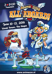 Theme illustration for Anime 2016 - All Aboard!