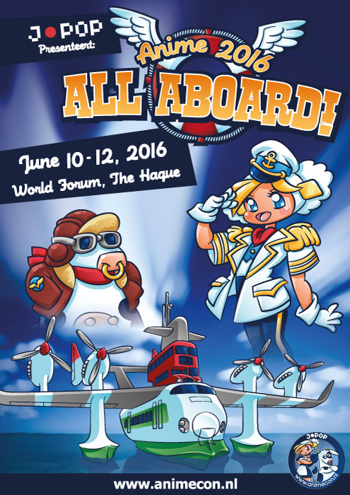 Theme illustration for Anime 2016 - All Aboard! by Popgrafix