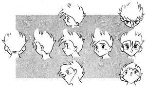Drawing manga heads 02