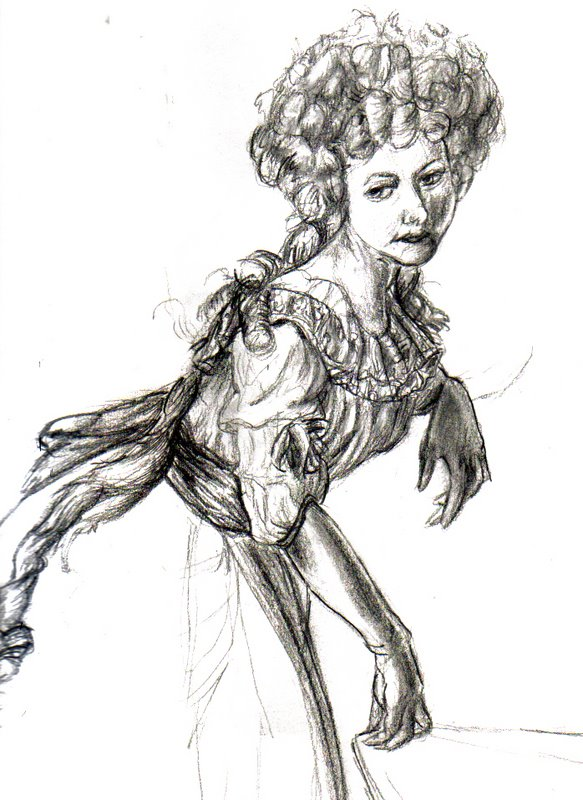 Old French Lady Painting Ref. by Penastuff