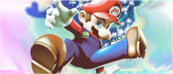 Falling Mario by JuviaLoxar