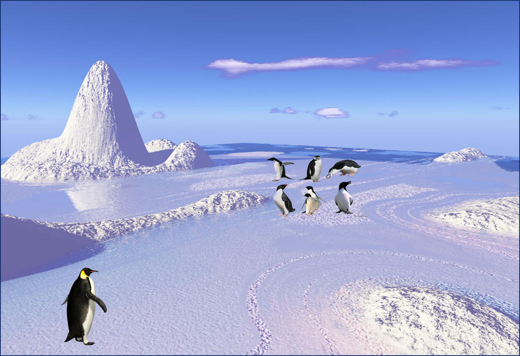 South Pole cold by GLO-HE