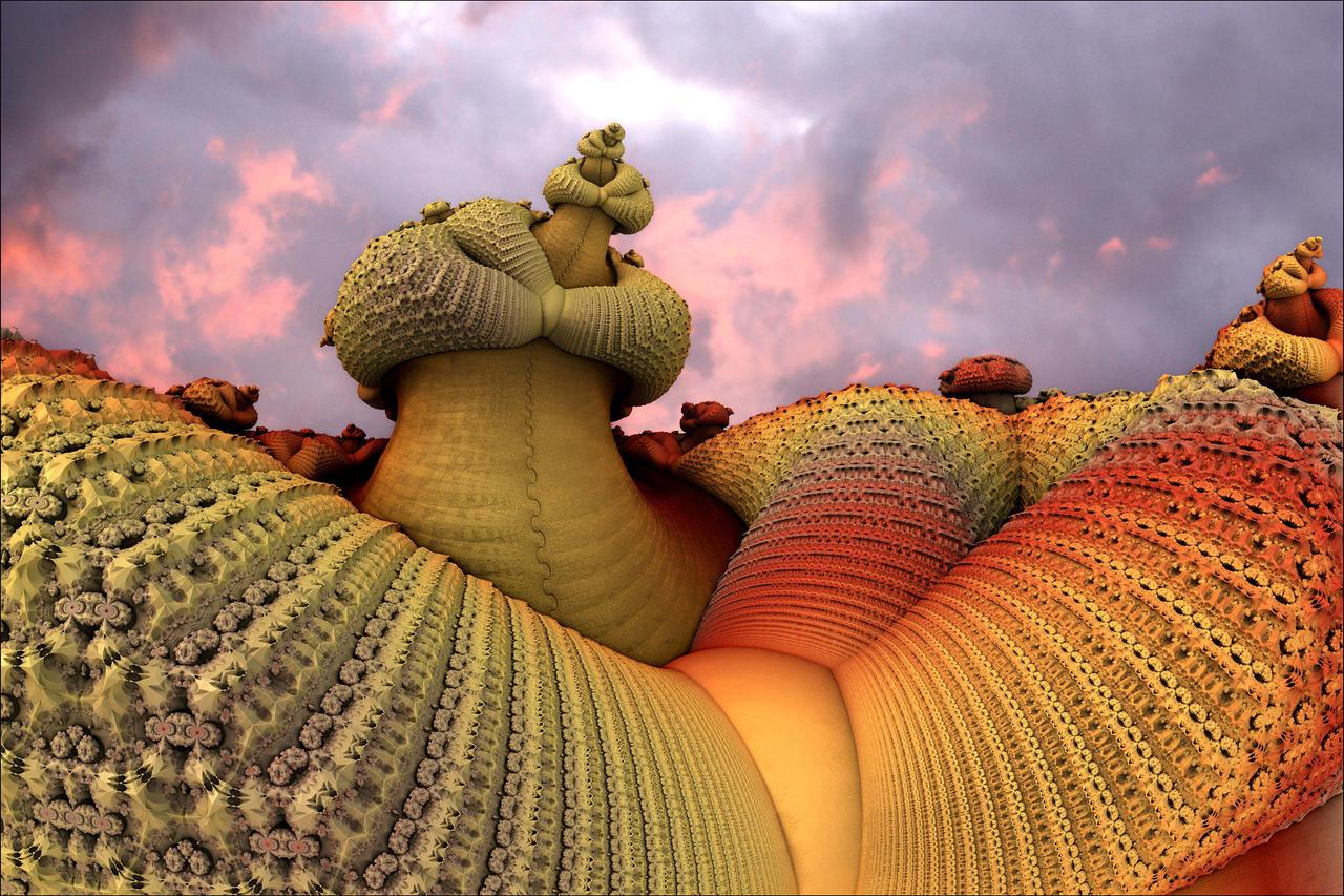 Strange phenomenon in knitting format by GLO-HE