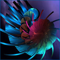a colorful spiral by GLO-HE