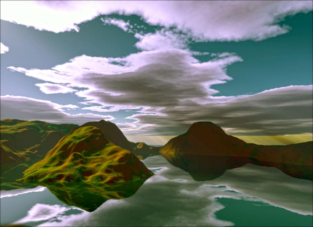 The small mountain lake by GLO-HE