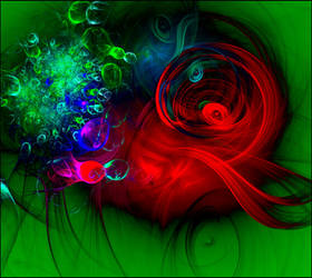 Abstract painting by GLO-HE