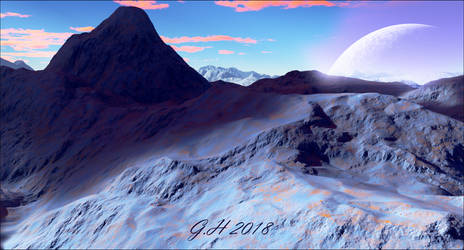 From the blue mountains by GLO-HE