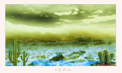 Cactus landscape mural