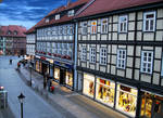 shopping street---Wernigerode Germany by GLO-HE