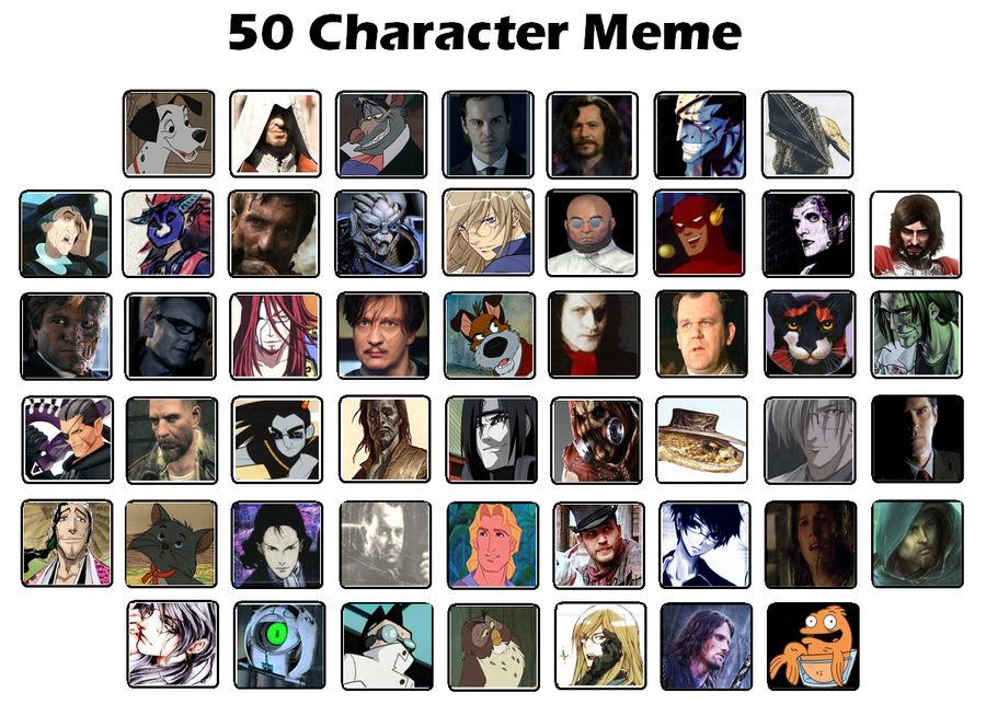 Funny Meme Character : Character meme by doctorcritical on deviantart