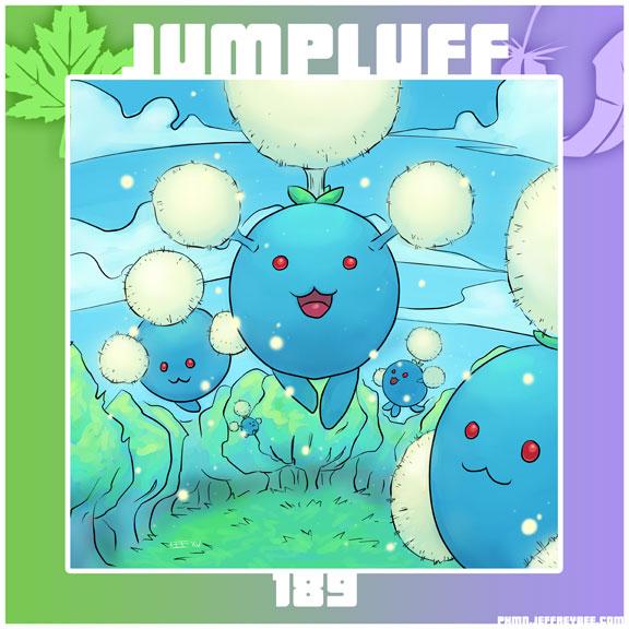 PKMN 189 - Jumpluff by Degnne