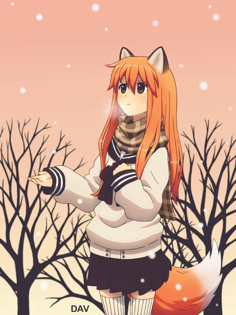 Fox girl by DAV-8 on DeviantArt