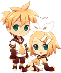 Chibi Len and Rin