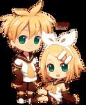 Chibi Len and Rin