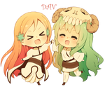 Chibi Orihime and Chibi Neliel