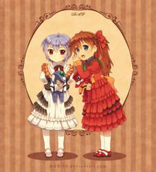 Rei and Asuka by DAV-19