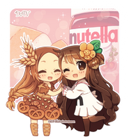 Bread and Nutella by DAV-19