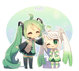 Miku and Leek by DAV-19